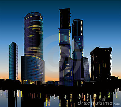 Skyscraper construction vector