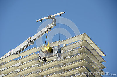 Skyscraper exterior cleaning