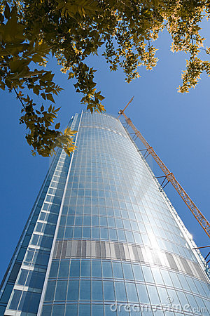 Free Skyscraper From Glass And A Steel Stock Image - 11469791