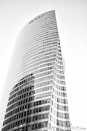 Free Skyscraper Glass Facade In La Defense, Paris Royalty Free Stock Images - 119896439