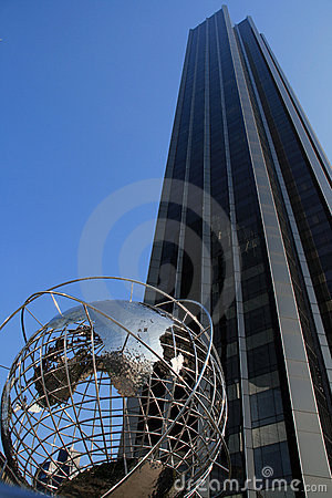 Skyscraper and the globe