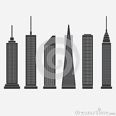 skyscraper clip art black and white – clipart free download