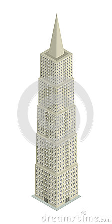 Skyscraper isometric