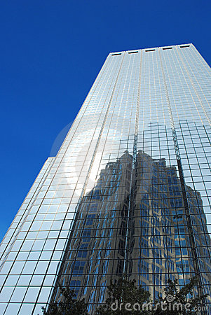 Skyscraper with mirror windows