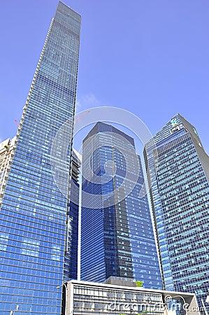 Skyscraper modern architecture singapore Editorial Image