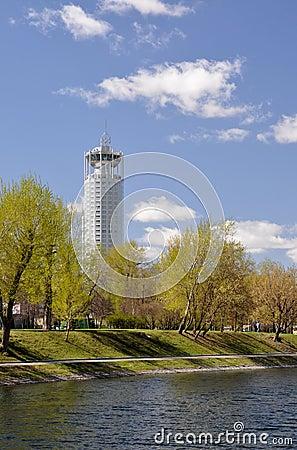 Skyscraper Moskve.Rossiya.