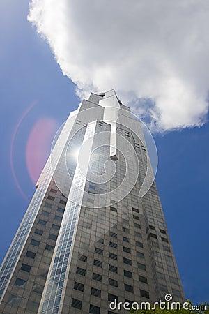 Skyscraper Reaching the Clouds