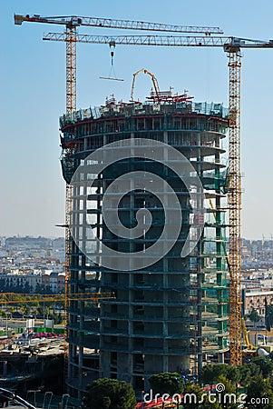 Skyscraper in Seville Editorial Stock Photo