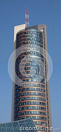 Skyscraper in Vilnius city
