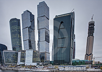 Modern architecture concept: skyscrapers