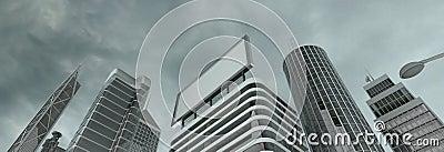 skyscrapers & billboard