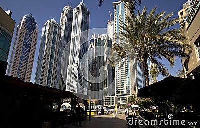 Skyscrapers in Dubai, United Arab Emirates Editorial Stock Photo