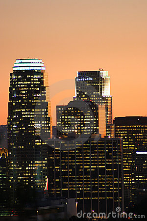 Free Skyscrapers In Los Angeles Stock Photo - 390870