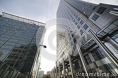Skyscrapers in London.