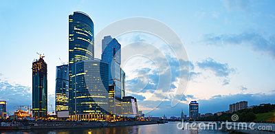 Skyscrapers of Moscow city Editorial Photo