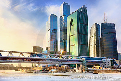 Skyscrapers of the Moscow International Business C