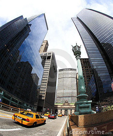 The skyscrapers near grand central station Editorial Photography