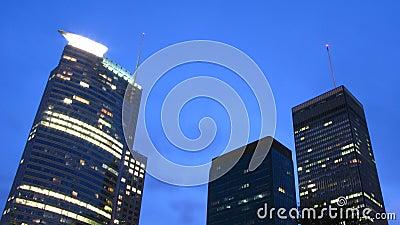 Skyscrapers in night scene