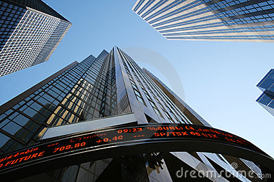 Skyscrapers-office building in downtown Toronto Editorial Photography