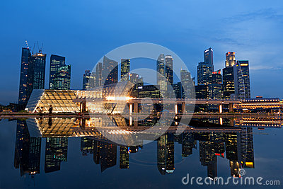 Skyscrapers reflection in Singapore