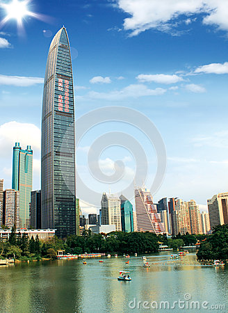 Skyscrapers in Shenzhen, China Editorial Stock Image