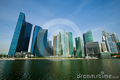 Skyscrapers of Singapore business district