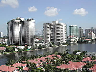 Skyscrapers, waterfront homes
