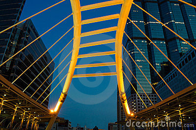 Skywalk high angle Editorial Stock Image