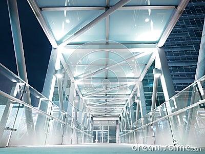 Skywalk in night city
