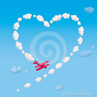 Free Skywriting A Heart Royalty Free Stock Photography - 24417667