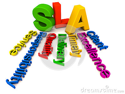 SLA words collage