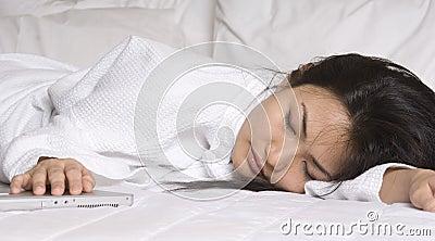 In slaap