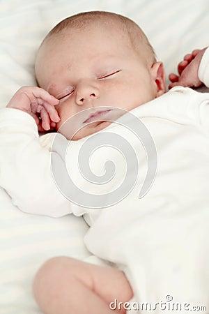 Slaap pasgeboren baby