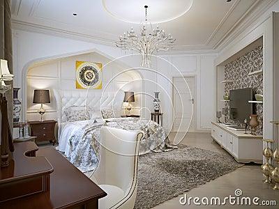 Slaapkamer oosterse stijl stock illustratie afbeelding 48276479 - Barokke stijl kamer ...