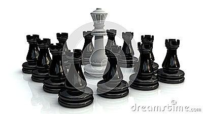 Slag 1 van het schaak
