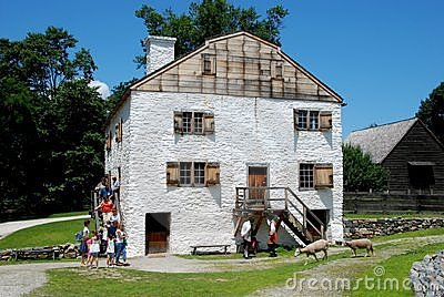 Slaperige Hol, NY: C. 1750 Manor Philipsburg Redactionele Afbeelding