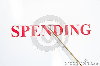 Slashing spending.