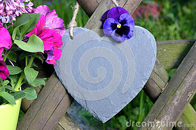 Slate Heart Garden Decoration