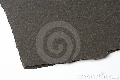 Slate rock with rough broken edge