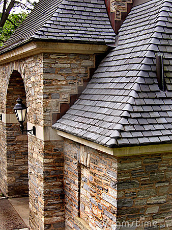 Free Slate Roof With Stone Wall Stock Photos - 1189063