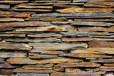 Slate Stone Wall  Texture Royalty Free Stock Photography - Image: 13808097