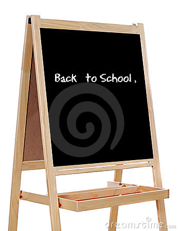 Free Slate Written With The Words: Back To School Royalty Free Stock Photos - 6487348