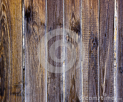 Weathered wooden fence slats