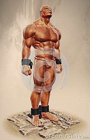 Slave 3d illustration