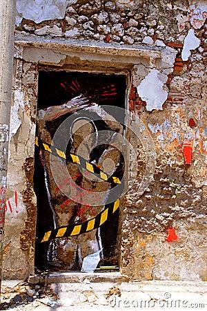Slave-Graffiti, Cartagena, Colombia Editorial Stock Image