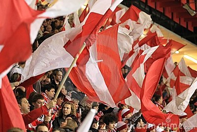 Slavia Prague fans Editorial Stock Photo