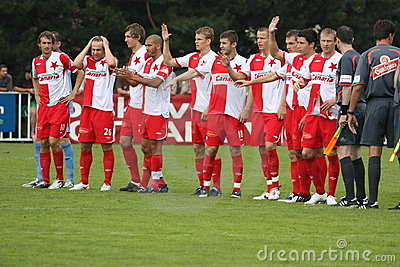 Slavia Prague team Editorial Stock Image