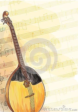 Slavic traditional musical instrument - Domra.