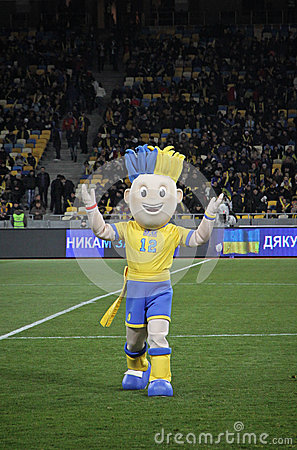Slavko, the UEFA Euro 2012 official mascot Editorial Image