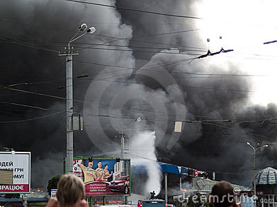 Slavyansky market explosion in Dnipropetrovsk Editorial Image